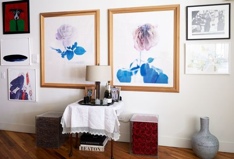 Room, Interior design, Floor, Interior design, Wall, Flooring, Picture frame, Paint, Teal, Wood flooring,