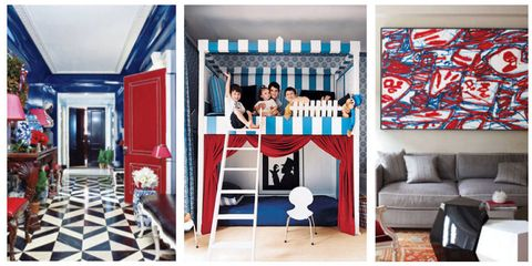 Red White And Blue Rooms Bright Rooms