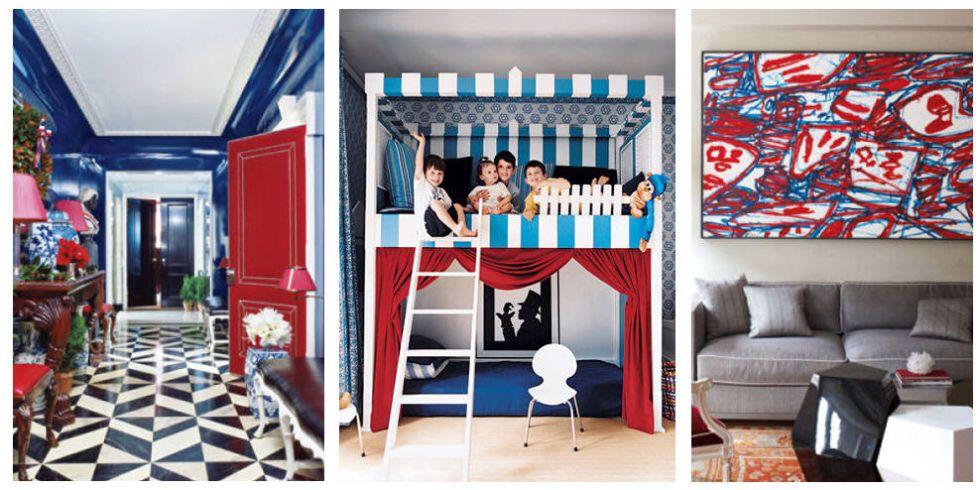 These Spaces Brilliantly Capture The Patriotic Spirit With Hues Of Red,  White, And Blue. Part 79