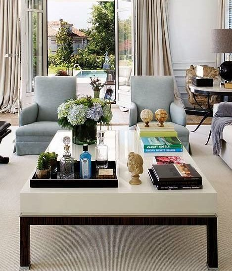 20 best coffee table styling ideas how to decorate a square or round coffee table - Living Room Table Decor