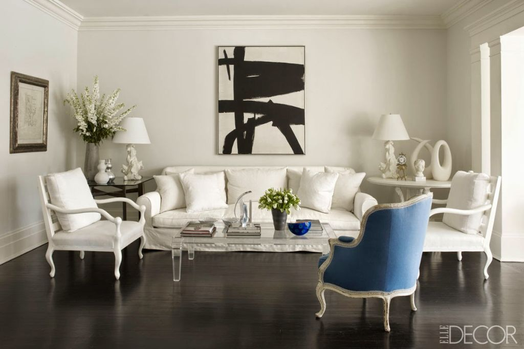 image & 20 White Living Room Furniture Ideas - White Chairs and Couches