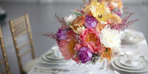 Petal, Flower, Serveware, Bouquet, Cut flowers, Pink, Floristry, Flower Arranging, Flowering plant, Centrepiece,