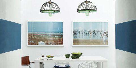 Blue, Interior design, Room, Floor, Table, Flooring, Wall, Turquoise, Teal, Aqua,