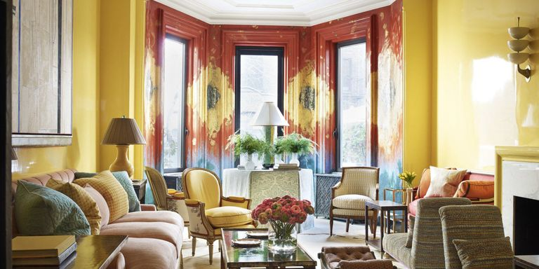 House tour a new york city townhouse infused with color and romance - English style interior design rigor and comfort ...