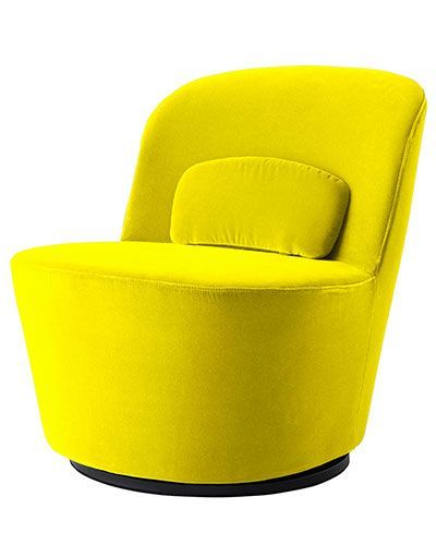 This Chair Is Small Says Ríos So It Doesn T Take Up A Lot Of E The Velvet Upholstery Makes Tactile And Y Color Phenomenal Yellow