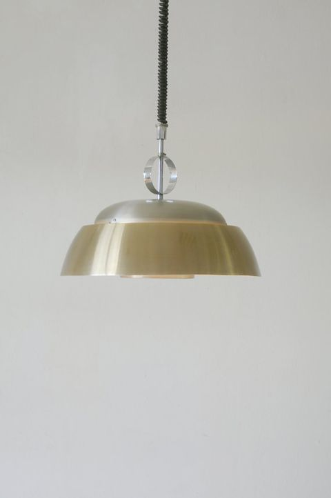 Light fixture, Lighting accessory, Ceiling fixture, Tints and shades, Metal, Beige, Lampshade, Material property, Steel, Silver,