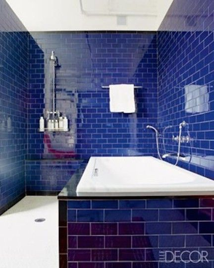 Plumbing fixture, Blue, Architecture, Property, Wall, Room, Tile, Floor, Interior design, Purple,