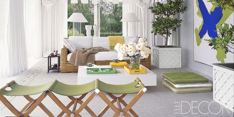 Green, Room, Interior design, Branch, Table, Wall, Furniture, Home, Living room, Interior design,