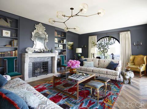 Blue, Room, Interior design, Home, Living room, Wall, Floor, Furniture, Interior design, Flooring,