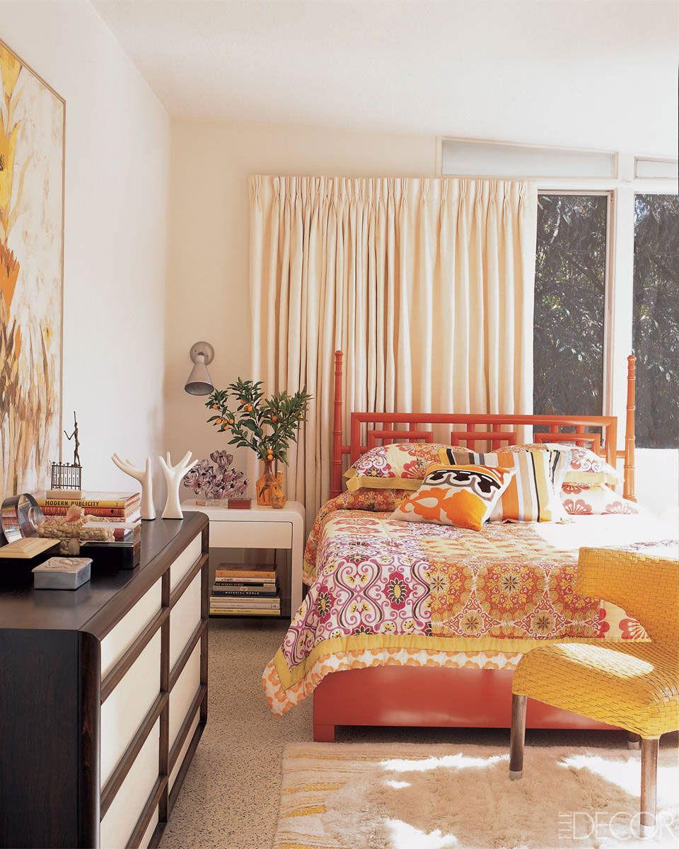 Charmant Cheerful Shades Of Orange Make A Colorful Statement In Fashion Designer  Trina Turku0027s Inviting Los Angeles Bedroom.