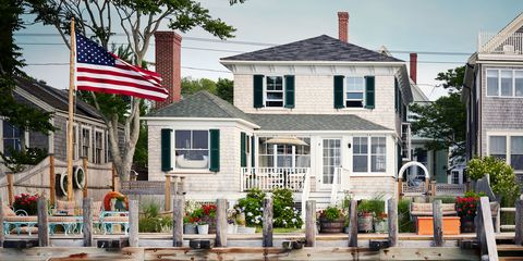 The shingled house was built around 1880, overlooking the harbor.