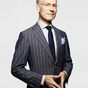 Clothing, Glasses, Dress shirt, Collar, Sleeve, Shirt, Standing, Joint, Formal wear, Style,
