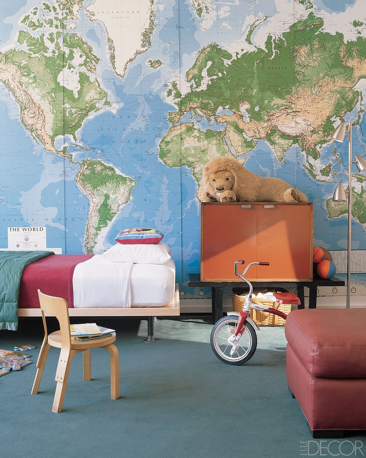Cool Boys Bedroom Ideas Decorating A Little Boy Room - Boys room with maps