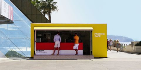 Bus stop, Composite material, Advertising, Arecales, Signage, Shade, Palm tree, Transparent material,