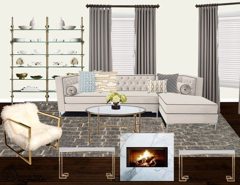 The Custom Floor Plan Pace Designed For Lim S Living Room Photo Laurel Wolf Z Gallerie