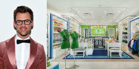 Eyewear, Glasses, Vision care, Dress shirt, Collar, Green, Interior design, Bow tie, Formal wear, Facial hair,