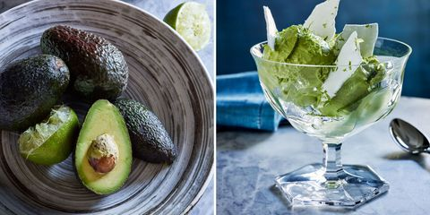 Recipe: Avocado-Lime Sorbet With Meringue Chips