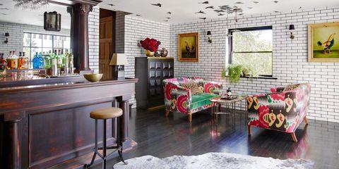 Interior design, Room, Ceiling, Table, Furniture, Interior design, Floor, Home, Couch, Light fixture,