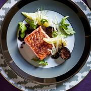 Food, Dishware, Cuisine, Serveware, Ingredient, Plate, Tableware, Dish, Leaf vegetable, Garnish,