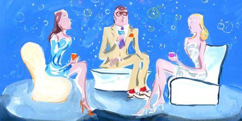 Human, Sitting, Mammal, Paint, Art, Painting, Illustration, Art paint, Watercolor paint, Barefoot,