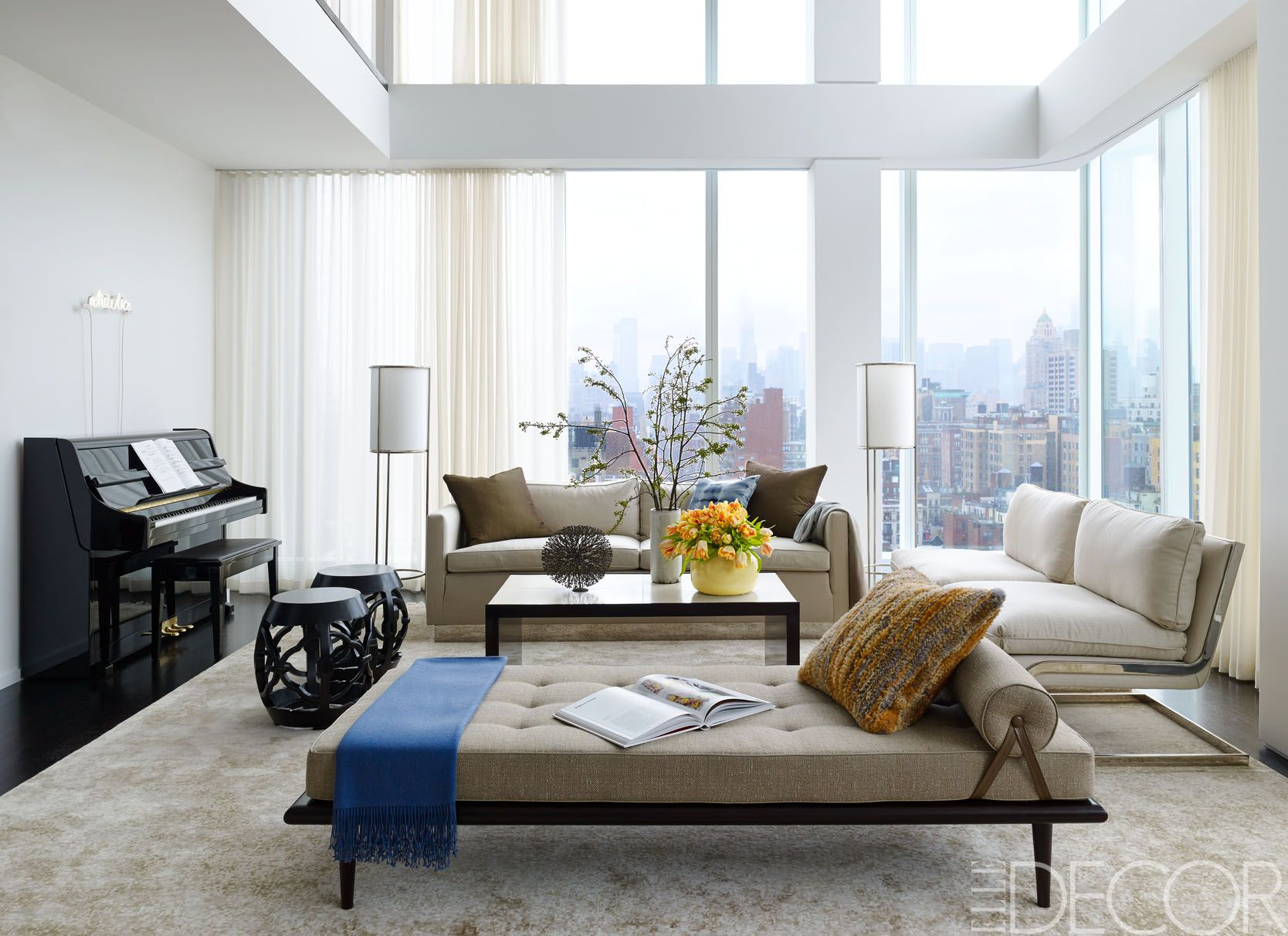 elle decor living rooms.  18 Of The Most Beautiful Rooms In New York City