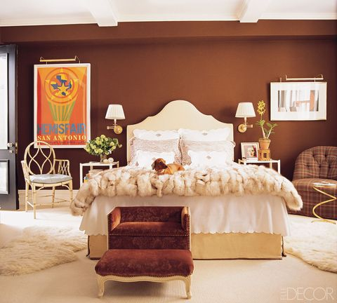 Room, Brown, Interior design, Textile, Furniture, Wall, Bed, Linens, Real estate, Bedding,
