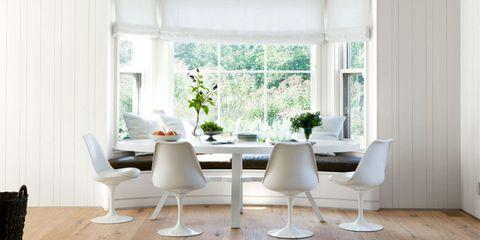 Room, Interior design, Wood, Window, Floor, Furniture, Flooring, White, Table, Interior design,