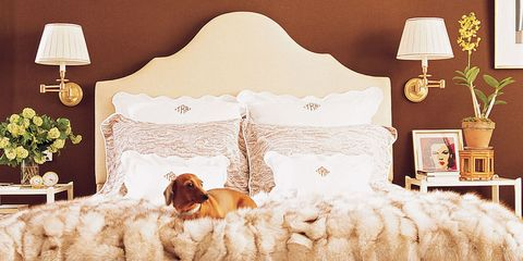 Room, Brown, Interior design, Textile, Bedding, Bedroom, Bed, Wall, Linens, Interior design,