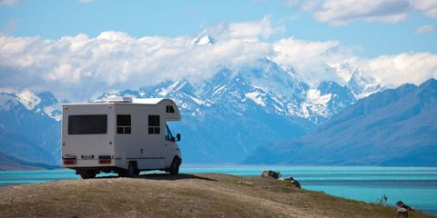Mountainous landforms, Mountain range, Automotive exterior, Fender, Highland, Mountain, Glacial landform, Valley, Ridge, Moraine,