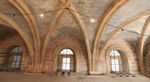 Architecture, Ceiling, Wall, Arch, Fixture, Daylighting, Hall, Vault, Medieval architecture, Arcade,
