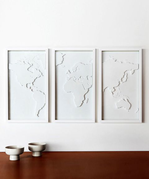 "<p>These three-dimensional framed maps from Dot & Bo jump off an empty wall. <em>$74.99, <a href=""http://www.dotandbo.com/collections/pinterest-rewards/mapster"" target=""_blank"">dotandbo.com</a></em><a href=""http://www.dotandbo.com/collections/pinterest-rewards/mapster""></a></p>"