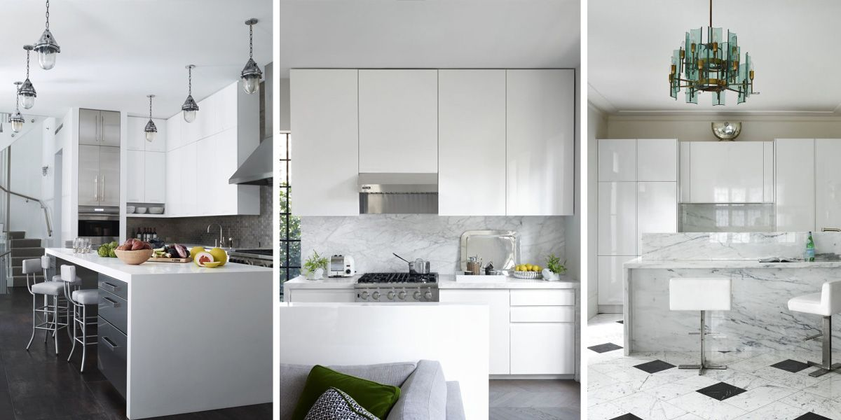 exceptional Decorating Ideas For Kitchens With White Cabinets #5: 30 Best White Kitchens Design Ideas - Pictures of White Kitchen Decor -  ELLEDecor.com