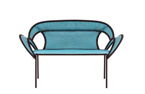 Blue, Green, Furniture, Teal, Turquoise, Aqua, Azure, Electric blue, Outdoor furniture, Armrest,