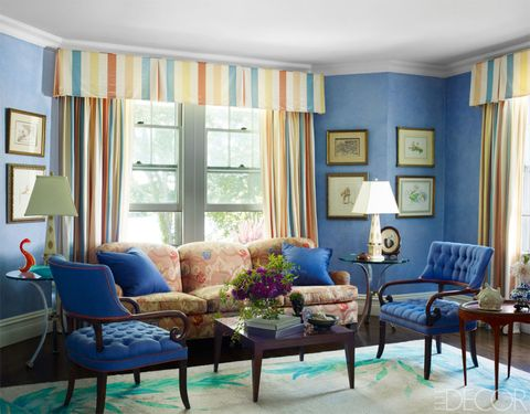 Blue, Room, Interior design, Living room, Furniture, Table, Wall, Home, Couch, Interior design,