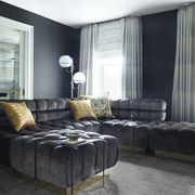 Interior design, Room, Floor, Property, Wall, Textile, Furniture, Living room, Couch, Flooring,
