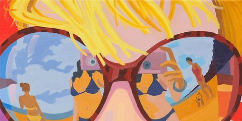 Eyewear, Vision care, Glasses, Yellow, Orange, Goggles, Personal protective equipment, Amber, Cool, Art,