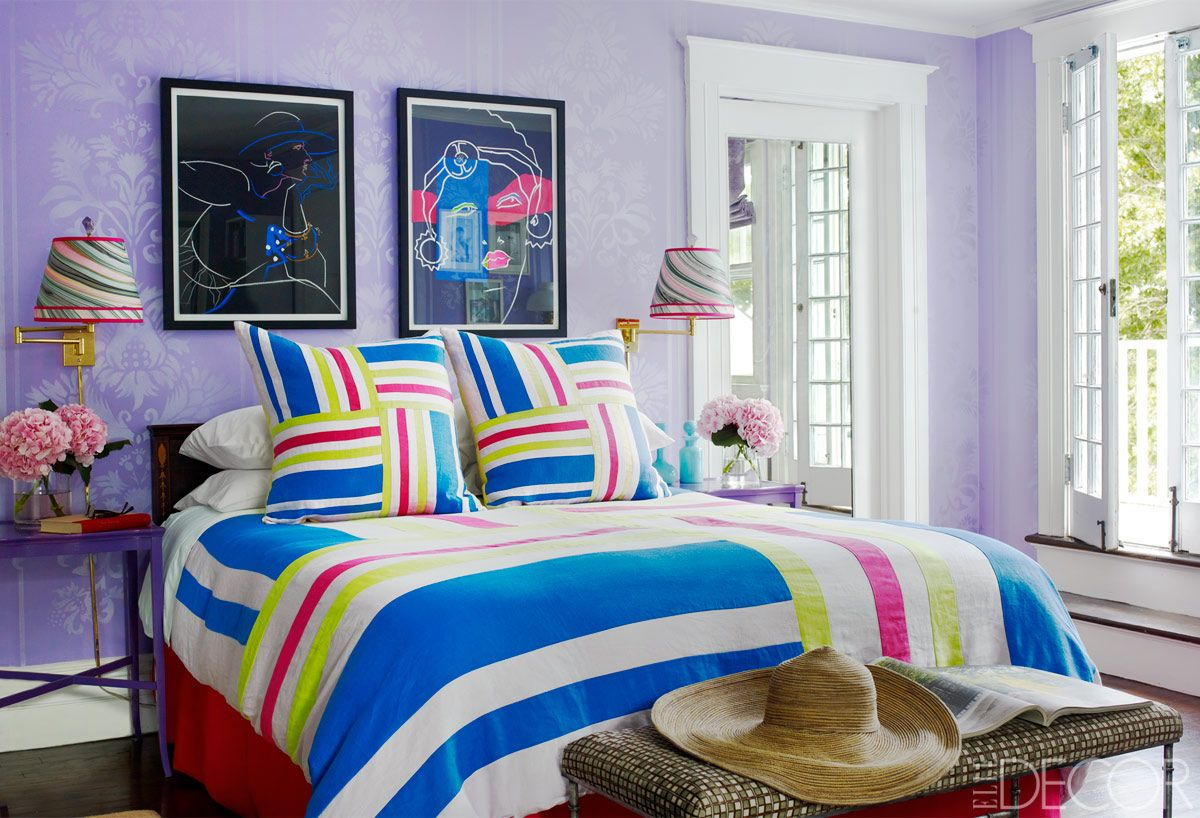 Purple And Blue Bedroom 15 Best Purple Rooms Walls Ideas For Decorating With Purple