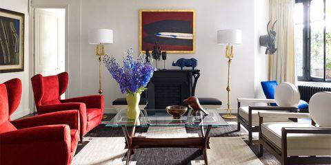 Blue, Room, Interior design, Floor, Furniture, Flooring, Living room, Interior design, Wall, Couch,