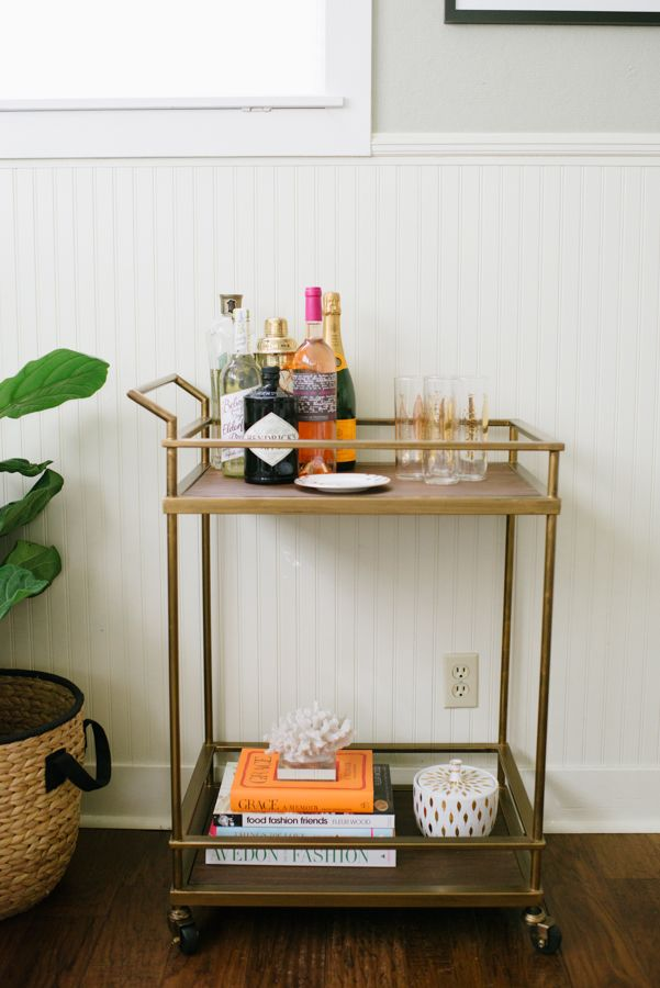 5 Bar Cart Styling Ideas - How To Style a Bar Cart