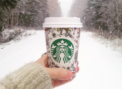 Winter, Freezing, Snow, Nail, Wool, Woolen, Cup, Sweater, Tumbler, Knitting,