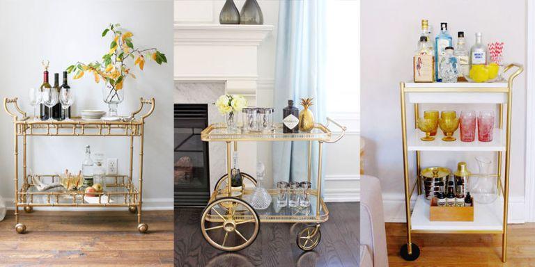 5 Bar Cart Styling Ideas - How To Style a Bar Cart