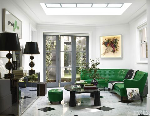 Green, Interior design, Room, Floor, Living room, Wall, Ceiling, Interior design, Couch, Home,