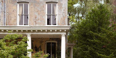 Property, House, Real estate, Home, Facade, Building, Residential area, Door, Porch, Fixture,