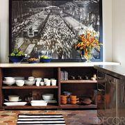 Room, Interior design, Wall, Shelving, Shelf, Paint, Home appliance, Interior design, Collection, Major appliance,