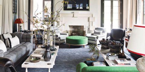 Room, Interior design, Green, Living room, Floor, Property, Home, Table, Ceiling, Furniture,