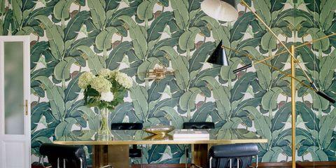 Floor, Interior design, Green, Room, Flooring, Wall, Ceiling, Furniture, Table, Interior design,