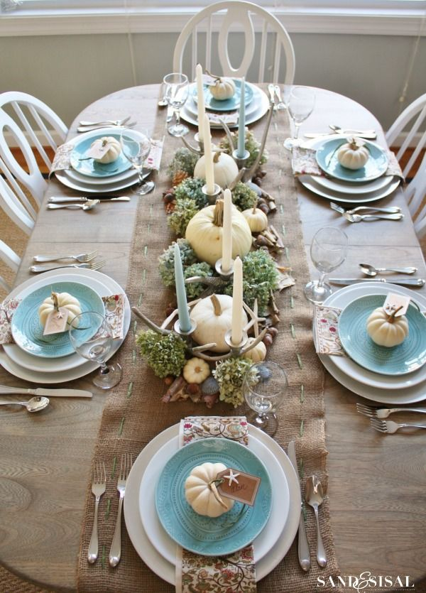 20 Thanksgiving Table Decor Ideas - Thanksgiving Table Settings And  Decorations