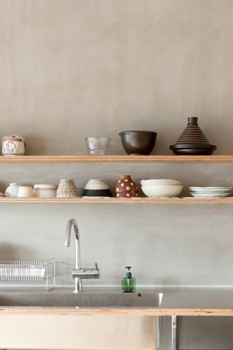 "<p>""Modernizing a kitchen is about the aesthetics, but it's also about the operation,"" says designer <a href=""http://www.laurenlevant.com/"" target=""_blank"">Lauren Levant Bland</a>. A move to open shelving can improve both the look and the functionality of your prep and dining space. Choose matching, monochromatic dishware worth displaying.</p>"