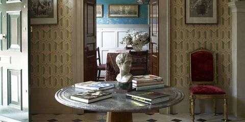 Interior design, Floor, Room, Flooring, Ceiling fixture, Ceiling, Light fixture, Chandelier, Interior design, Teal,