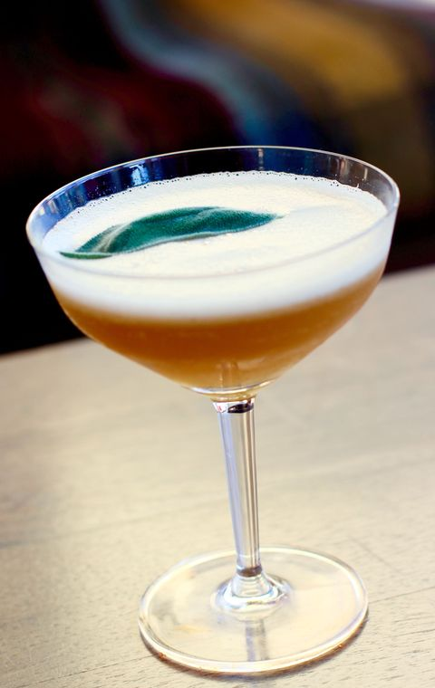 <p>A cocktail from Bar 54 in NYC, this one-and-done drink features Jameson, maple syrup, and an egg white. </p><p><strong>Ingredients:</strong></p><p>1.5 Jameson </p><p>.5 Dem Syrup </p><p>1/2 Egg White </p><p>.75 Lemon </p><p>Bar Spoon Maple Syrup </p><p>Muddled clove and sage </p><p><strong>Directions:</strong></p><p>Shaken and strained over cold draft ice in a Collins glass. Garnish with sage. </p>